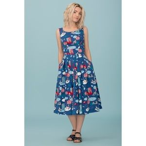 ModCloth Emily and Fin By the Sea A-Line NWOT